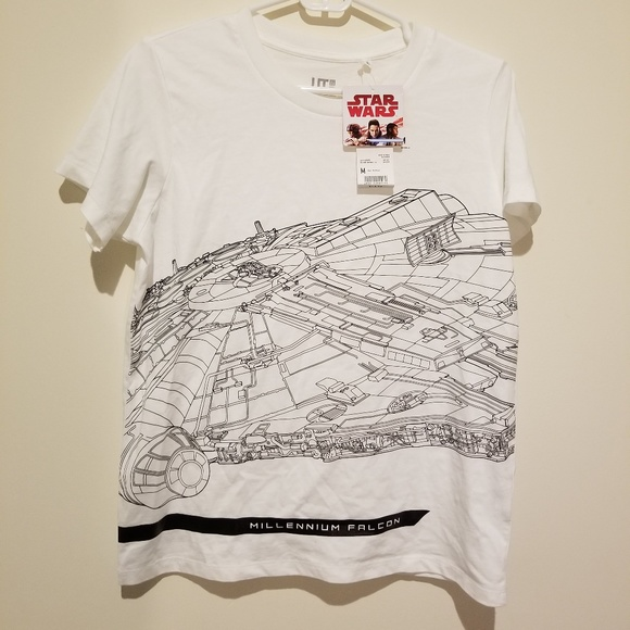 Uniqlo Tops - NWT - Uniqlo Star Wars Millennium Falcon T Shirt
